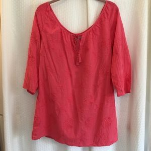 West Indies NWT Beach Cover Up Tunic Coral